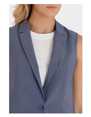 Basque - One Button Long Line Vest