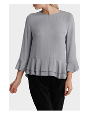 Basque - Double Layer Flounce Hem Top