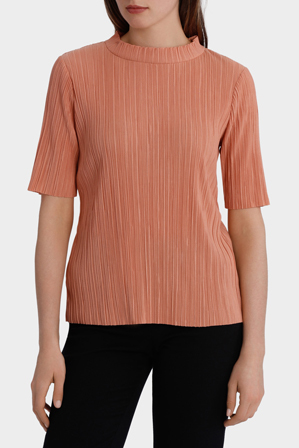 Basque - Stand Collar Pleat S/S Top