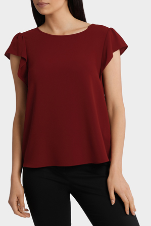 Basque - Flutter Sleeve Top