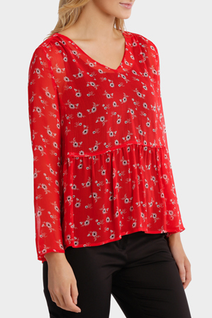 Basque - L/S Soft Top Print