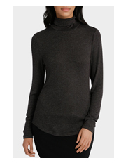 Basque - Roll Neck Marle L/S Tee