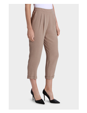 Basque - Textured Cropped Peg Leg Pant