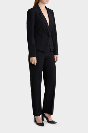Basque - Check Wide Leg Suit Pant