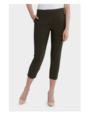 Basque - Cotton Sateen Cropped Pant