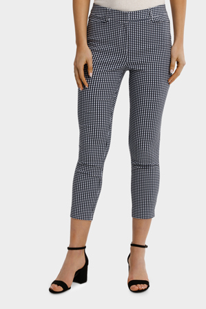Basque - Gingham Capri Pant