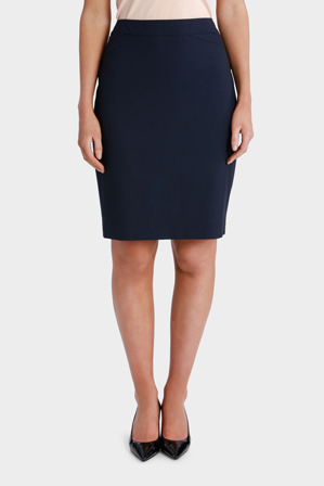 Basque - Mini Grid Pencil Suit Skirt