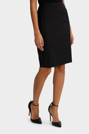 Basque - Pinstripe Suit Skirt