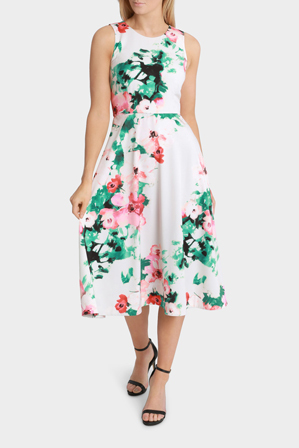 Basque - Garden Party Fit And Flare Midi Dress