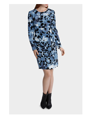 Basque - Winter Kaleidoscope Print L/S Dress