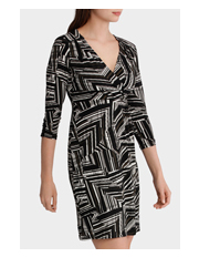 Basque - Juxtapose Wrap Front Jersey Dress