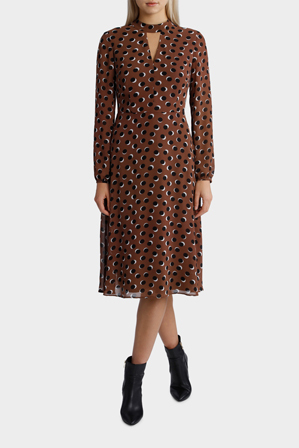 Basque - Eclipse Spot Midi Fit And Flare Dress
