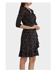 Basque - Moss Print Flamenco Jersey Dress