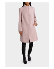 Basque - Funnel Neck 3/4 Length Coat