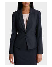 Basque Petites - Herringbone Suit Jacket