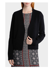 Basque Petites - Edge to Edge Short Cardi with Pockets