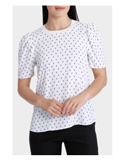 Basque Petites - TUCK SLEEVE MINI GEO PRINT TOP
