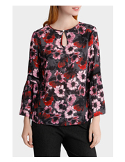 Basque Petites - Winter Floral Braid Insert Blouse