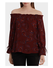 Basque Petites - Off The Shoulder Top Print