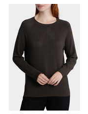 Basque Petites - Drop Stitch Front Crew Neck Jumper