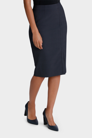 Basque Petites - Herringbone Suit Pencil Skirt