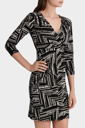 Basque Petites - Juxtapose Wrap Front Jersey Dress