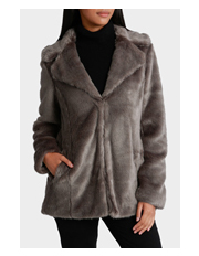 Piper - Jacket Faux Fur Mid Calf