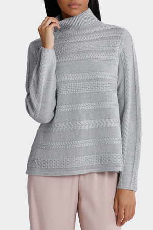 Piper - Pointelle and Cable Swing Detail Sweater
