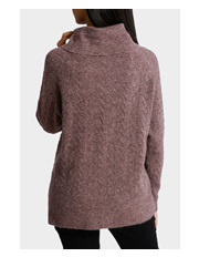 Piper - Roll Neck All Over Cable Sweater
