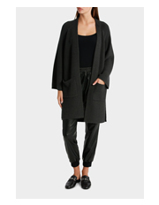 Piper - Longline Rib Cardigan with Patch Pockets