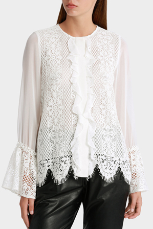Piper Petites - Shirt with lace and ruffle details