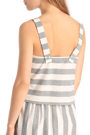 Piper - Stripe Crop Top