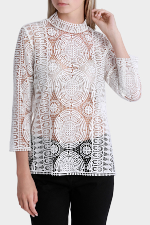Piper Petites - Top Elbow Sleeve all over lace