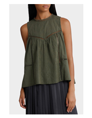 Piper - Sleeveless Pointelle Top