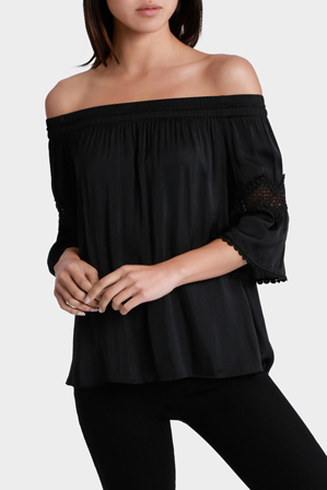 Piper Petites - Top Off shoulder bruised Polyester