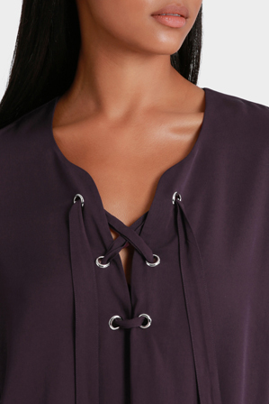 Piper - Top lace Up detail Long Sleeve