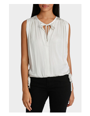 Piper - V Neck with Tie Waist Detail Sleeveless Top