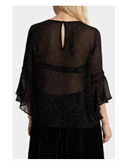 Piper - Top with Lace Detail - Etched Floral