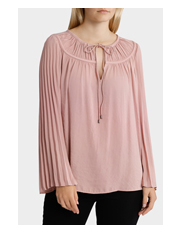Piper - Top Tunic Soft with Tie Neck