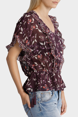 Piper - Top Short Sleeve with Spliced Print