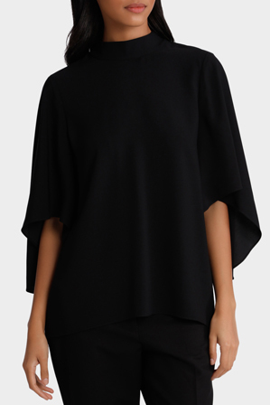 Piper - Top High Neck with Ruffle Sleeve