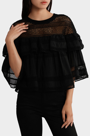 Piper - Top with Ruffles and lace