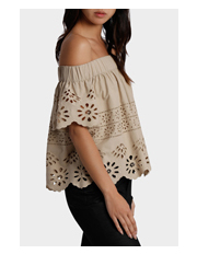 Piper - Off Shoulder Embroidered Top