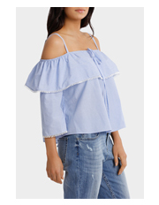 Piper - Top With Frill And Strap Details
