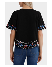 Piper - Embroidered Short Sleeve Top