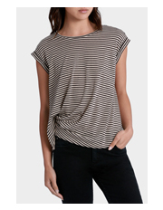 Piper - Rouched Stripe Tee