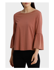 Piper - 3/4 Sleeve Tee with Ruffles