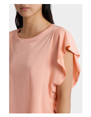 Piper - Tee with Ruffle Sleeve Detail