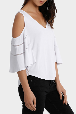 Piper - Tee cold shoulder with ladder stitch