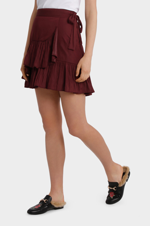 Piper - Wrap skirt with tie